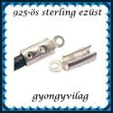 925-ös ezüst  lánckapocsvég 2,5mm-es 2db/cs ELK V 08-2,5, Gyöngy, ékszerkellék, Egyéb alkatrész, Ékszerkészítés, Gyöngy, ELK V 08-2,5  925-ös fémjellel ellátott valódi ezüst (bevizsgált) lánckapocs vég ezüsthuzalhoz, bőr..., Alkotók boltja