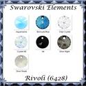 Swarovski rivoli 12mm-es több színben  1db , Gyöngy, ékszerkellék, Swarovski kristályok, SWAROVSKI KRISTÁLY RIVOLI TÖBB SZÍNBEN!  1db   Méret:12mm  A színtáblázatot az első , a kés..., Alkotók boltja