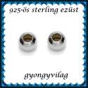 EKÖ 10-4   925-ös 4mm-es   ezüst köztes / gyöngy / díszitőelem , Gyöngy, ékszerkellék, Fém köztesek, 925-ös valódi  ezüst (bevizsgált) köztes / gyöngy / díszitőelem .  4mm-es stopper/ ezüst go..., Alkotók boltja