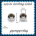 EKÖ 10-4   925-ös 4mm-es   ezüst köztes / gyöngy / díszitőelem , Gyöngy, ékszerkellék, Fém köztesek, Alkotók boltja