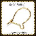 Gold Filled fülbevalókapocs EFK K 17 G, Gyöngy, ékszerkellék, Egyéb alkatrész, Ékszerkészítés, Mindenmás, Szerelékek, EFK K 12G 14K arannyal bevont (gold filled) 925-ös ezüst fülbevalókapocs .  1 pár   Ezt a fülbevaló..., Alkotók boltja