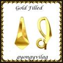 925-ös sterling ezüst ékszerkellék: medáltartó, medálkapocs EMK 94 AU Gold Filled, Gyöngy, ékszerkellék, Egyéb alkatrész, Ékszerkészítés, Mindenmás, Szerelékek,  EMK 94 g  14K arannyal bevont (gold filled) 925-ös ezüst medálkapocs.  A méreteket a fotón láthato..., Alkotók boltja