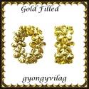 925-ös sterling ezüst ékszerkellék: köztes / gyöngy / dísz EKÖ 66 G Gold filled, Gyöngy, ékszerkellék, Egyéb alkatrész, Ékszerkészítés, Mindenmás, Szerelékek, EKÖ 66 G Két rétegű, 24 karátos arany bevonattal ellátott 925-ös valódi ezüst (bevizsgált) köztes /..., Alkotók boltja