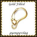 Gold Filled fülbevalókapocs EFK K 33 G, Gyöngy, ékszerkellék, Egyéb alkatrész, Ékszerkészítés, Mindenmás, Szerelékek, EFK K 33 G 14K arannyal bevont (gold filled) 925-ös ezüst fülbevalókapocs .  1 pár   Ezt a fülbeval..., Alkotók boltja