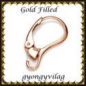 Gold Filled fülbevalókapocs EFK K 33 G (rózsa gold), Gyöngy, ékszerkellék, Egyéb alkatrész, Ékszerkészítés, Mindenmás, Szerelékek, EFK K 33 G 14K rózsaarannyal bevont (gold filled) 925-ös ezüst fülbevalókapocs .  1 pár   Ezt a fül..., Alkotók boltja