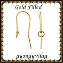 925-ös sterling ezüst ékszerkellék: fülbevalóalap akasztós  EFK A 76 G gold filled, Gyöngy, ékszerkellék, Egyéb alkatrész, Ékszerkészítés, Gyöngy, EFK A 76 G   Két rétegű, 24 karátos arannyal bevont (gold filled) 925-ös ezüst fülbevalókapocs  1 p..., Alkotók boltja