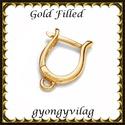 Gold Filled fülbevalókapocs EFK K 30 G, Gyöngy, ékszerkellék, Egyéb alkatrész, Ékszerkészítés, Mindenmás, Szerelékek, EFK K 30 G 14K arannyal bevont (gold filled) 925-ös ezüst fülbevalókapocs .  1 pár   Ezt a fülbeval..., Alkotók boltja