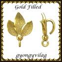 925-ös sterling ezüst ékszerkellék: medáltartó, medálkapocs EMK 95 AU Gold Filled, Gyöngy, ékszerkellék, Egyéb alkatrész, Ékszerkészítés, Mindenmás, Szerelékek,  EMK 95 g  14K arannyal bevont (gold filled) 925-ös ezüst medálkapocs.  A méreteket a fotón láthato..., Alkotók boltja