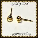 Gold Filled 925-ös sterling ezüst ékszerkellék: fülbevalóalap bedugós EFK B 39g, Gyöngy, ékszerkellék, Egyéb alkatrész, Ékszerkészítés, Mindenmás, Szerelékek, EFK B 39G  925-ös fémjellel ellátott valódi ezüst (bevizsgált), két rétegű, 24 karátos arany bevona..., Alkotók boltja