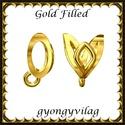 925-ös sterling ezüst ékszerkellék: medáltartó, medálkapocs EMK 96 AU Gold Filled, Gyöngy, ékszerkellék, Egyéb alkatrész, Ékszerkészítés, Mindenmás, Szerelékek,  EMK 96 g  14K arannyal bevont (gold filled) 925-ös ezüst medálkapocs.  A méreteket a fotón láthato..., Alkotók boltja