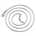 Ezüstözött nyaklánc EBÜL 04 42+5, Gyöngy, ékszerkellék, Egyéb alkatrész, EBÜL 04 42+5  Ezüstözött kígyó nyaklánc.    A lánc hossza: 42cm + 5cm lánchosszabbító  , Alkotók boltja