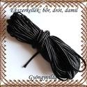 Ékszerkellék: sujtás zsinór FSZ04 fekete, Textil, Szalag, pánt, Sujtás zsinór , 3mm széles Az ár 1m-re vonatkozik        , Alkotók boltja