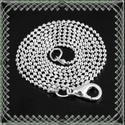 925-ös nyaklánc EÜL 01-1,4 47, Gyöngy, ékszerkellék, Egyéb alkatrész, Ékszerkészítés, Fűzőszál, 925-ös fémjellel ellátott nyaklánc.  A méretek a fotón láthatók.  A lánc hossza: 47 cm  Az ékszer 9..., Alkotók boltja
