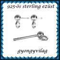 925-ös ezüst fülbevaló kapocs EFK B 01-1-3, Gyöngy, ékszerkellék, Egyéb alkatrész, Ékszerkészítés, Mindenmás, Szerelékek,  EFK B 01-1-3   925-ös fémjellel ellátott valódi ezüst (bevizsgált) bedugós fülbevalóalap.  1 pár  ..., Alkotók boltja