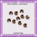 Ékszerkellék: csomótakaró BCST 05-4b, Gyöngy, ékszerkellék, Fém köztesek, Ékszerkészítés, Mindenmás, Szerelékek,  BCST 05-4b  Antik bronz csomótakaró.  5pár(10db) /csomag  A méreteket a fotón láthatod.  A csomóta..., Alkotók boltja