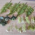 Műzöld növények csomagban, Dekorációs kellékek, Egyéb kellékek, Műzöld növények, melyeket művirág, selyemvirág dekorációk készítéséhez ajánlok (kopogt..., Alkotók boltja