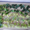 Műzöld növények csomagban, Dekorációs kellékek, Egyéb kellékek, Virágkötészet, Mindenmás, Műzöld növények, melyeket művirág, selyemvirág dekorációk készítéséhez ajánlok (kopogtató, falikép,..., Alkotók boltja