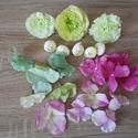 Pink-zöld Diy selyemvirág csomag, Dekorációs kellékek, Egyéb kellékek, Virágkötészet, Mindenmás, Különböző selyemvirágokat válogattam össze, pink-zöld-krém színekben, melyekből készíthetsz kopogta..., Alkotók boltja