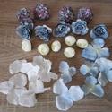 Kék-krém színű Diy selyemvirág csomag, Dekorációs kellékek, Egyéb kellékek, Virágkötészet, Mindenmás, Különböző selyemvirágokat válogattam össze, kék-krém színekben, melyekből készíthetsz kopogtatót, f..., Alkotók boltja
