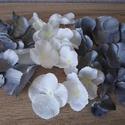 Szürke-csillámos-ezüst színű Diy selyemvirág csomag, Dekorációs kellékek, Egyéb kellékek, Virágkötészet, Mindenmás, Különböző selyemvirágokat válogattam össze, szürke-fehér csillámos-sötétszürke csillámos színekben,..., Alkotók boltja