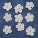 Horgolt kisvirág, Dekorációs kellékek, Egyéb kellékek, Horgolt kis virágok,gyönggyel a közepén. Minőségi fonalból készült. A virágok átmérője 3 cm.  Bármil..., Alkotók boltja
