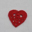 Horgolt szívek, Dekorációs kellékek, Egyéb kellékek, Horgolt szívek, minőségi fonalból készült. A szívek átmérője 4 cm.  Bármilyen ruha,hajpánt vagy aján..., Alkotók boltja