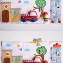 Mesés tűzoltóállomás  - interaktív játszópad (azonnal vihető!), Baba-mama-gyerek, Játék, Készségfejlesztő játék, Gyerekszoba, Mindenmás, Számtalan variációs lehetőséget nyújt a játékra ez a nagy mértékben kézzel készült mesés interaktív..., Meska