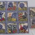 Patchwork anyag (Afrika), Textil, Pamut, Varrás, Mindenmás, Kiváló minőségű angol patchwork szövet. A képen egy kiterített anyag látható, melyen látható a telj..., Alkotók boltja