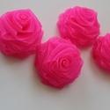 Rózsa virágok tmarton85 részére, Textil, Felvarrható kellék, Varrás, Szalag, Textil,  Organzából készült rózsák  6,5 cm átmérővel.  Felhasználhatók  ,kitűzők,ruhák,táskák díszétéséhez...., Alkotók boltja