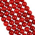 Vörös korall / 8 mm - 20 db, Gyöngy, ékszerkellék, Féldrágakő, Ékszerkészítés, Gyöngy, 8 mm-es vörös korall ásványgolyók. Az ár 20 db gyöngyre vonatkozik.  Amennyiben más kiszerelésre le..., Alkotók boltja