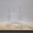 Egyedi üveg palack leírása, Üveg, Üvegművészet, Magyarországon készült üvegpalack, 22 cm magas áttetsző színben. A palackok egyedi gyártásuknak kös..., Alkotók boltja