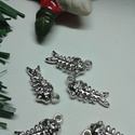 Szálka medál, Gyöngy, ékszerkellék, Egyéb alkatrész, Tibeti ezüst színű medálok. Méret: 8*20 mm 1 csomag 5 db-ból áll., Alkotók boltja