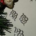 Barokkos medál, Tibeti ezüst színű medálok. Méret: 16*26 mm 1...