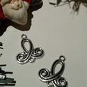 Tulipán vagy harang medál, Tibeti ezüst színű medálok. Méret: 20*22 mm 1...