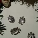 Bagoly medál, Bagoly tibeti ezüst színű medálok. Méret:  14...