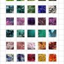 ÁSVÁNYOK  négyzet alakú digitális montázs 25 x 25mm 30db, Gyöngy, ékszerkellék, Üveglencse, Ékszerkészítés, Grafika, fotó, Papírművészet, 2 + 1 AKCIÓ!  Két ív digitális montázs vásárlása esetén választani lehet egy harmadikat ajándékba! ..., Alkotók boltja
