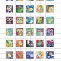 MESE  négyzet alakú digitális montázs 25 x 25mm 30db, Gyöngy, ékszerkellék, Papír, Ékszerkészítés, Grafika, fotó, Papírművészet, 2 + 1 AKCIÓ!  Két ív digitális montázs vásárlása esetén választani lehet egy harmadikat ajándékba! ..., Alkotók boltja