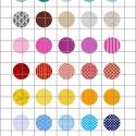TEXTÚRÁK 2.  kör alakú digitális montázs 25 x 25mm 35db, Gyöngy, ékszerkellék, Üveglencse, Ékszerkészítés, Grafika, fotó, Papírművészet, 2 + 1 AKCIÓ!  Két ív digitális montázs vásárlása esetén választani lehet egy harmadikat ajándékba! ..., Alkotók boltja