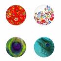 MINTÁK  kör alakú digitális montázs 25 x 25mm 35db, Gyöngy, ékszerkellék, Papír, Alkotók boltja
