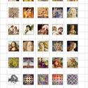 FESTMÉNYEK  négyzet alakú digitális montázs 25 x 25mm 30db, Gyöngy, ékszerkellék, Papír, Ékszerkészítés, Grafika, fotó, Papírművészet, 2 + 1 AKCIÓ!  Két ív digitális montázs vásárlása esetén választani lehet egy harmadikat ajándékba! ..., Alkotók boltja