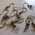 fülbevaló alap, bronz, akasztható, Gyöngy, ékszerkellék, Egyéb alkatrész, az ár 5 pár alapra vonatkozik.  Mérete: 18 mm; , Alkotók boltja