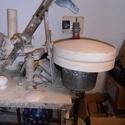 bekorongoló-  sablonkorongozó gép, Szerszámok, eszközök, Sablonok, Elsősorban tányérokhoz, de kaspókhoz egyszerű formákhoz stb. használható be-rákorongoló gép. Asztall..., Alkotók boltja