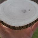 Natúr fakorong - 15-16 centis, csiszolt, Dekorációs kellékek, Fa, Alkotók boltja