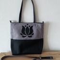 Cordura/Műbőr táska tulipán motívummal, Textil, Vászon, Varrás, Textil, Variálható táska tulipán motívummal.  A táska vízhatlan anyagból készült.  A hosszúpánt állítható, ..., Alkotók boltja