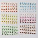 Akrilgyöngy különféle színekben , Gyöngy, ékszerkellék, Flitter, strassz, Papírművészet, Mozaik,  Eladó akrilgyöngy különféle színekben.    Mindegyik színből 4 lap maradt.  1 levélen 54 db kisebb ..., Alkotók boltja