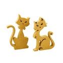 Cica kandur páros, Fa, Egyéb fatermék, Együtt doromboló cica páros, kötelező darab az otthonodba :)   Anyag: mdf  Méret:  cica: 16x10x2 cm ..., Alkotók boltja