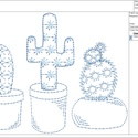 Kaktusz Digitális Hímzésminta Gépi Hímzéshez, Csináld magad leírások, Hímzés, Kaktusz Hímzésminta Háztartási Hímzőgépekhez. Ez egy digitális file amit emailben fogsz megkapni és..., Alkotók boltja