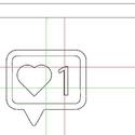 Szívecske Hímzésminta Gépi Hímzéshez, Csináld magad leírások, Hímzés, Szívecske Hímzéminta Hímzőgépekhez 2 méretben.  • Szín:1 • Hímzőminta méret: 95 x 100 mm és 47 x 50..., Alkotók boltja