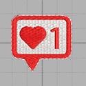 Szívecske Hímzésminta Gépi Hímzéshez, Csináld magad leírások, Hímzés, Szívecske Háztartási Hímzőgépekhez 2 méretben.  • Szín:1 • Hímzőminta méret: 40x 37 mm és 61 x 58 m..., Alkotók boltja