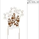 Zsirás Hímzésminta Gépi Hímzéshez, Csináld magad leírások, Hímzés, Zsiráf Hímzéminta Hímzőgépekhez   • Szín:1 • Hímzőminta méret: 105 x 182 mm • Öltések száma: 7123  ..., Alkotók boltja